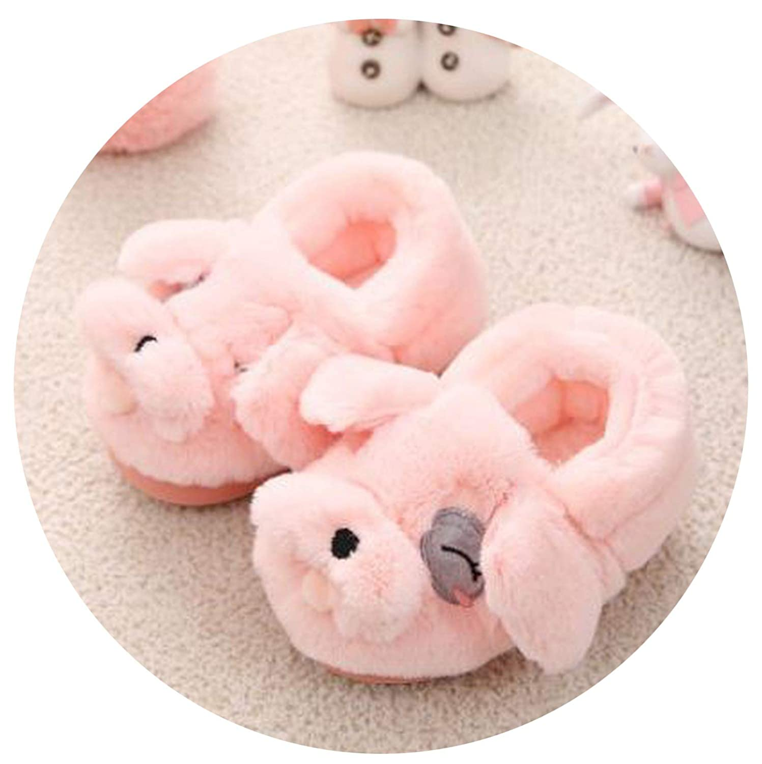 rose flowers Kids Baby Cotton Slippers Children Home Shoes Winter Baby Boys Girls Indoor Slippers Cute Non-Slip Warm Shoes 1-3 Years