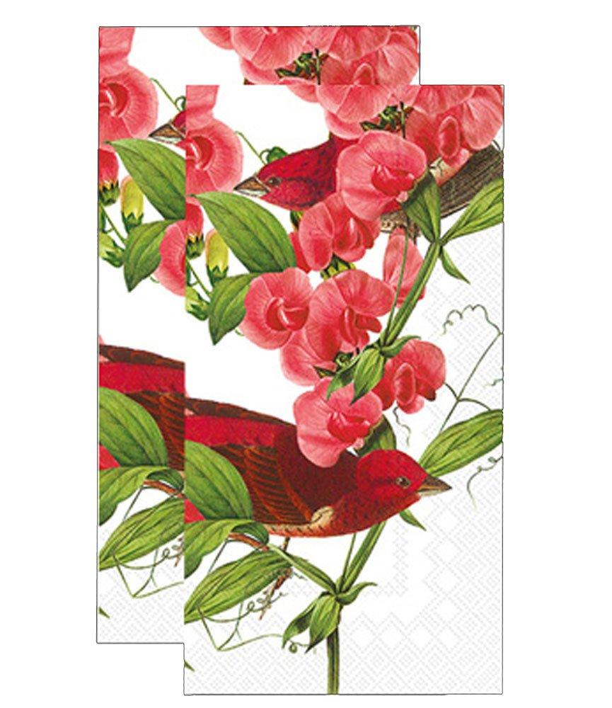 Ideal Home Range 3-Ply Paper Caskata Studio Purplefinch, 16 Count Guest Towel Napkins Set of 2