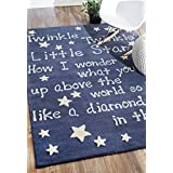 nuLOOM 200MTVS24A-36056 Handmade Luna Kids Lullaby and Stars Wool Area Rug (3-Feet 6-Inch X 5-Feet 6-Inch)