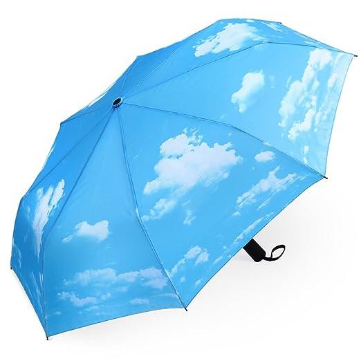 142 opinioni per PLEMO Ombrello Pioggia Pieghevole Mini Resistenti Automatico da Viaggio Borsa,