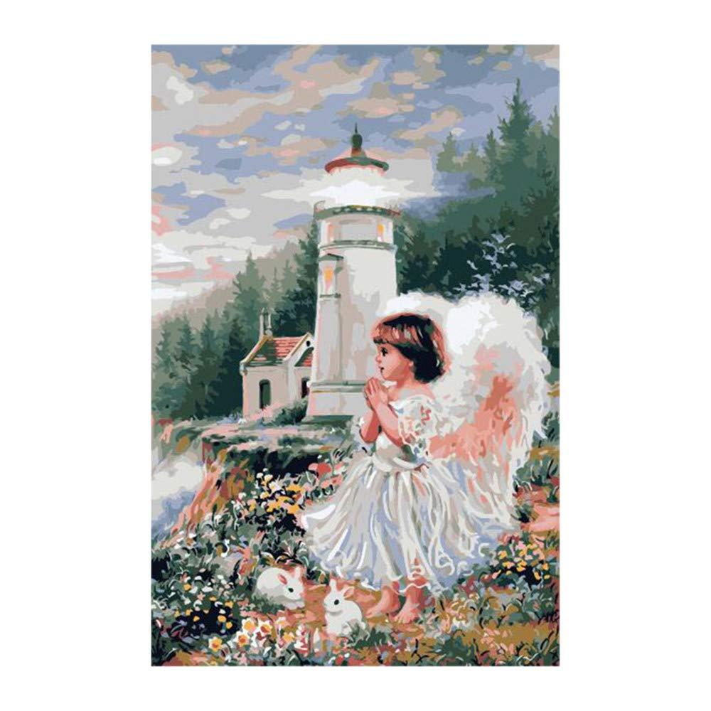 Malen Nach Zahlen Set Malen Nach Zahlen Für Junior Girl Girl Girl Und Tower Für Erwachsene Home Decor DIY-Framed B07Q469V64 | Verkaufspreis  4647bd