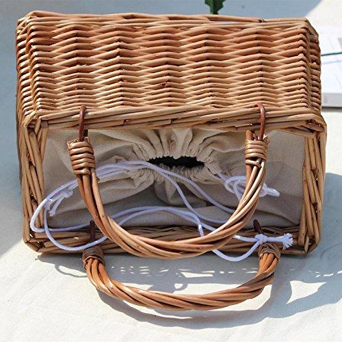 viaje de vacaciones playa de retro niña nbsp;Bolsa ratán verano de para imitación regalo nbsp; ideal almacenamiento hierba bolso bolsa mujer Bolsa de bolsa de hombro Hwxfqcn