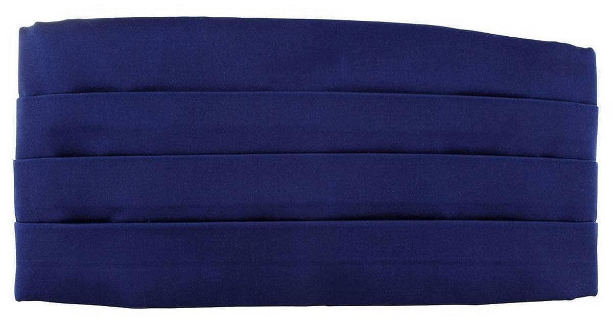 Royal Blue Michelsons of London Mens Satin Silk Cummerbund