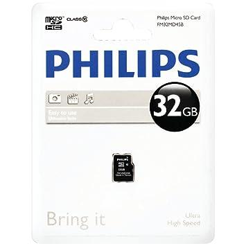 Philips fm32md45b/27 32 GB clase 10 MicroSDHC (TM) tarjeta ...