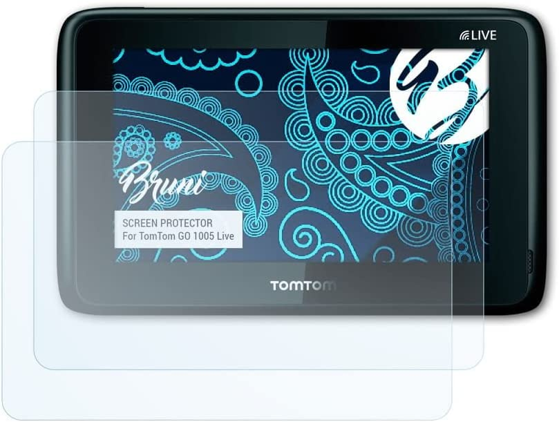 Bruni Screen Protector for TomTom GO 1005 Live Protector Film 2X crystal clear Protective Film