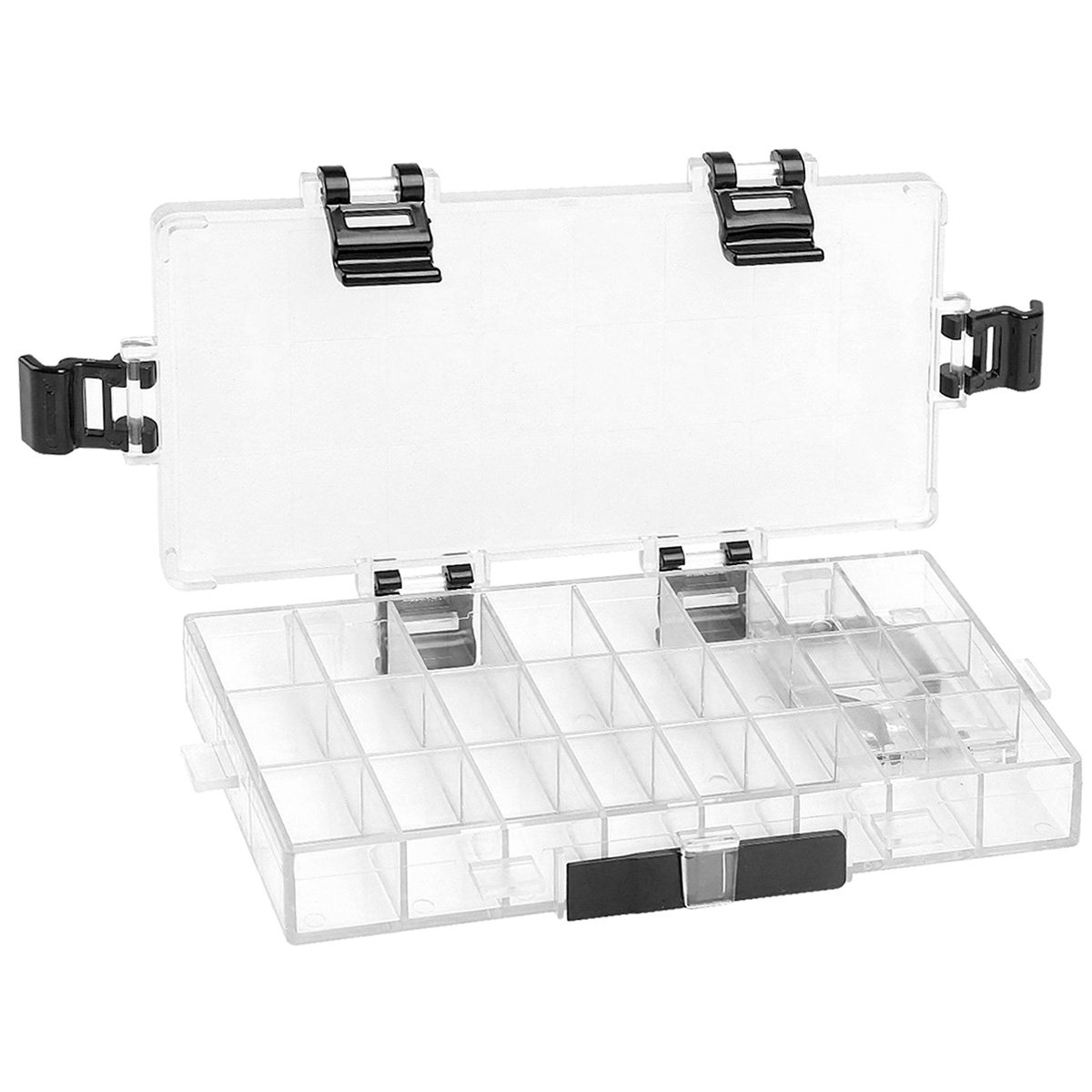 Transon Watercolor Palette Box Airtight 24 Deep Wells for Watercolor,Gouache,Acrylic and Oil Paint