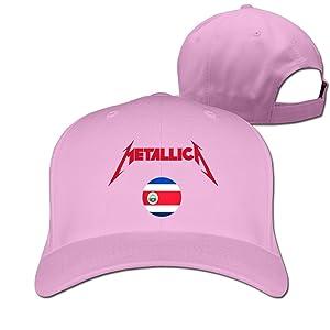 Adult Metallica In Costa Rica Cotton Adjustable Peaked Baseball Cap Pink