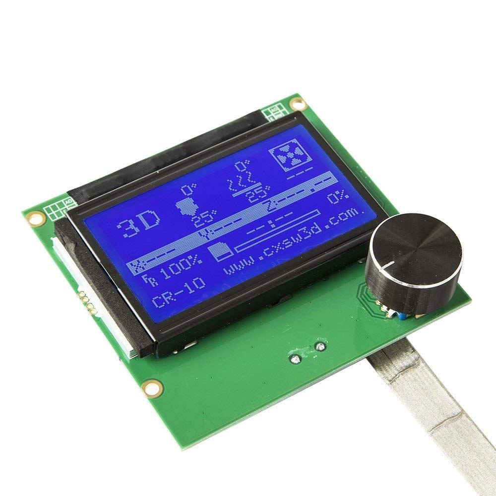 2004 LCD Screen Controller Display with Cable for Reprap Ramps 1.4 3D Printer Kit Accessory for Creality CR-10 Size : 10