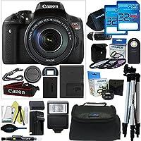 Canon EOS Rebel T6i DSLR Camera with 18-135mm Lens + Pixi-Advanced Accessory Bundle