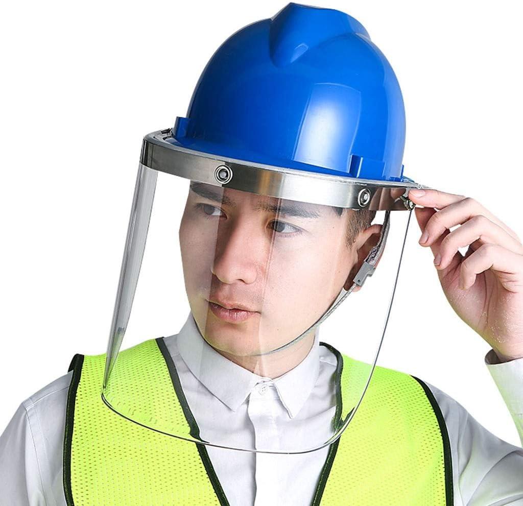 Máscara Visera Transparente Resistente Al Calor De La Máscara Protectora Del Soldador Máscara Anti-salpicaduras Casco De Enmascarar Integrado Montado En La Cabeza De La Máscara PC Protecciones para lo