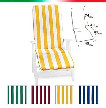 Coussin Pour Chaise Longue Lit Universel Pliant Repose Pieds Piscine Mer Jardin Tissu En Coton