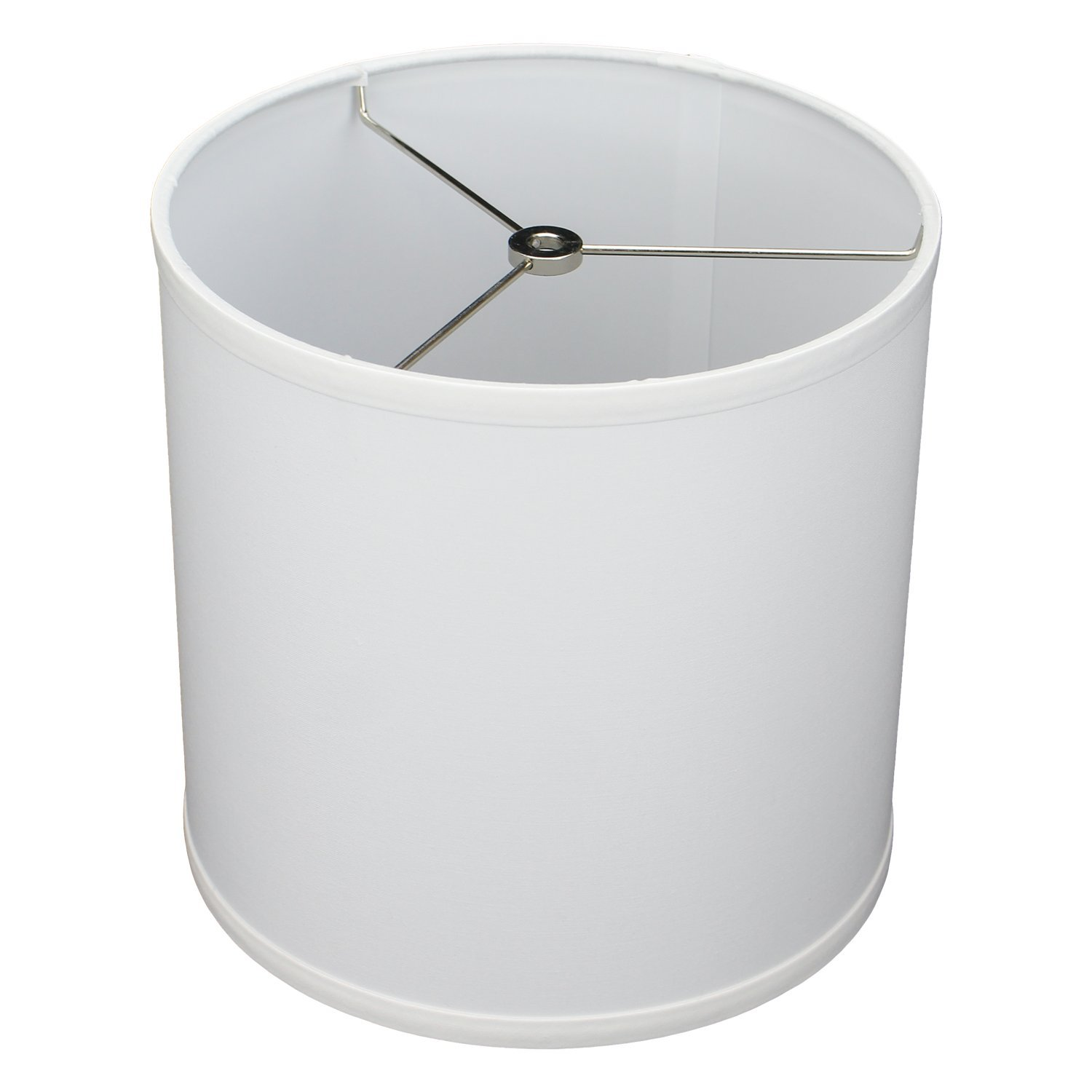 FenchelShades.com 10'' Top Diameter x 10'' Bottom Diameter 10'' Height Fabric Drum Lampshade Spider Attachment (White)