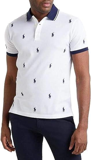 Polo Polo Ralph Lauren Knit Blanco Hombre M Blanco: Amazon.es ...