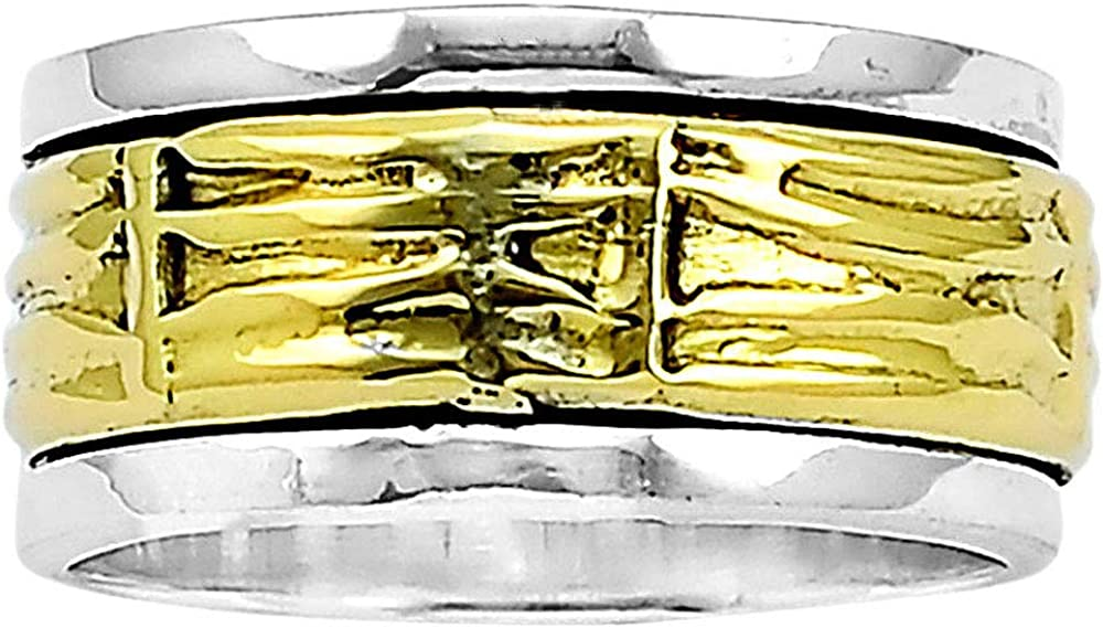 Desiregem Anti Anxiety and Worry Less Spinner Ring Spinning Size DGR1057 7.5