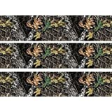 3x Mossy Oak Camo Edible Cake Side Wall Stripes Frosting 8 Round Birthday Party by ex