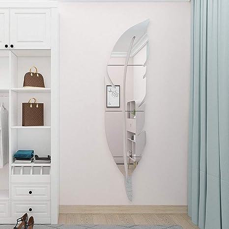 Vaabee Decorative Frameless Full Body Mirror Wall Decor Living Room Bedroom Bathroom Gym Door Modern Home Decor Large Amazon De Kuche Haushalt