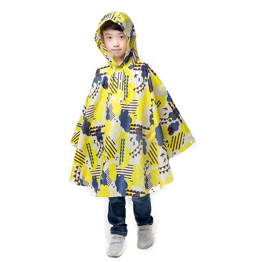 Cloak-styleRaincoats Children's Print Waterproof Poncho Rainwear for Kindergarten Kid