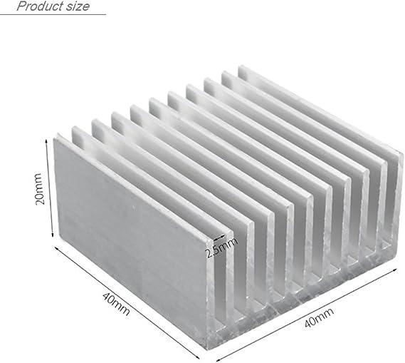 Enfriador de M/ódulo de Disipador de Calor Enfriador de Disipador de Calor de Aluminio con Aletas de 16 Piezas Adecuado para Computadora Kit de Disipadores de Calor de Aluminio Transistor