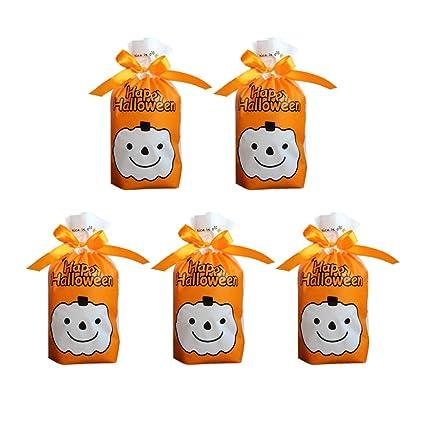 UPKOCH 100 bolsas con cordón para Halloween, para caramelos ...