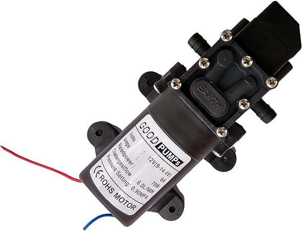 6/l//m 131 psi 12 V CC per camper//roulotte//barca//giardino. ad alta pressione di acqua Hot Wing connettore dritto Pompa autoadescante a membrana
