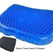 Bulbhead Egg Sitter Seat Cushion With Non Slip Cover Breathable Honeycomb Design Absorbs Pressure Points
