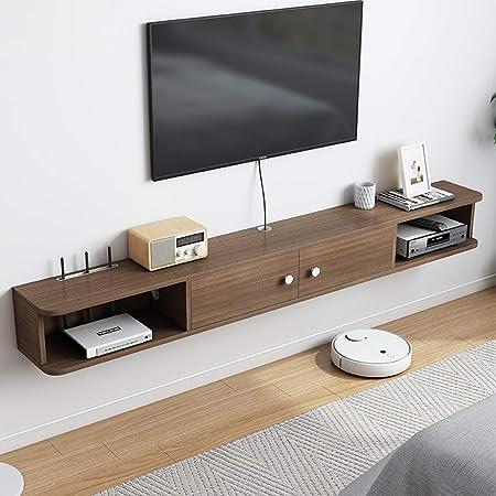 AFEO-soporte para televisor Set-Top Box enrutador baratijas Estante de Almacenamiento Mueble de Pared Colgante Mueble TV de Pared Estante de la Pared Estante Flotante Estante de TV Bienes de Estante: Amazon.es: Hogar