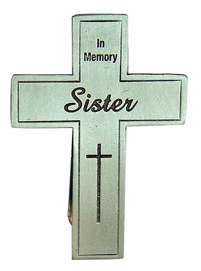 2 1//2 Inch Wowser in Memory of Sister Memorial Motif Car Auto Visor Clip