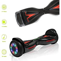 TechClic Electric Hoverboard Self-Balancing Hoover Board with Built in Speaker LED Lights Wheels UL2272 Certified