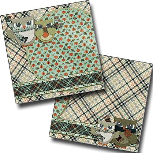 Autumn Snuggles Non-Photo-Mat - Premade Scrapbook Pages - EZ Layout 3553