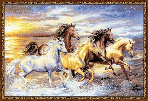 RIOLIS Premium 100/038 in The in The Sunset Counted Cross Stitch Kit, 23½