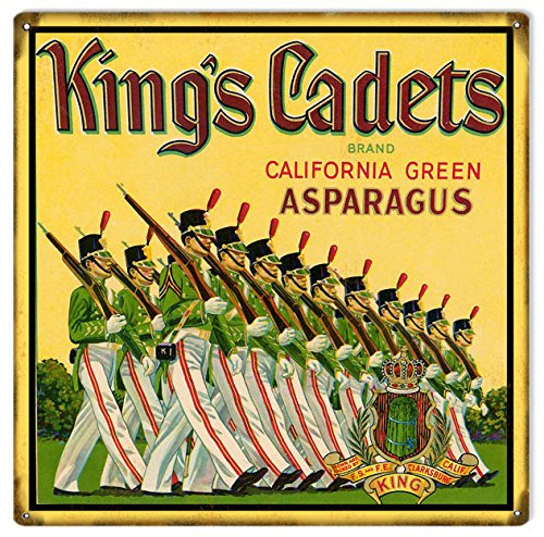 Victory Vintage Signs Kings Cadets Brand California Asparagus Country Farmers Reproduction Sign