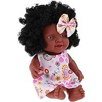 kesoto 10 Pulgadas Reborn African American Baby Girl Doll Vinyl Newborn Toddler Doll