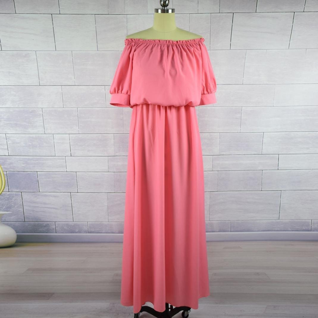 vestidos mujer casual,Nueva familia Vestido de verano madre hija vestido largo mujeres ropa casual LMMVP (L(Mujeres), Rosado): Amazon.es: Hogar