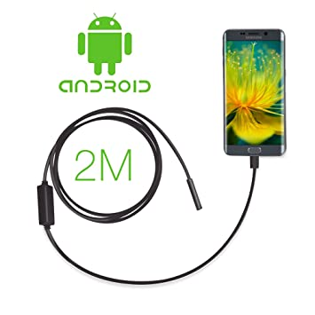 Amazon.com: GBB 7mm Android Endoscope OTG Micro USB Endoscope Waterproof Borescopes Inspection Camera with 6 LED and 2M Cable: Camera & Photo