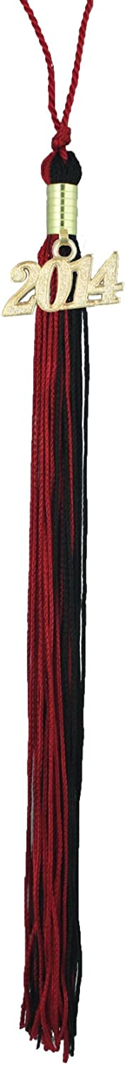Red /& Black Graduation Tassel with Gold 2014 Year Charm