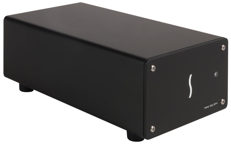 Sonnet Twin 10G Network Adapter Thunderbolt 2 10 Gigabit Ethernet, Black (TWIN10G-SFP-TB2), Black by Sonnet