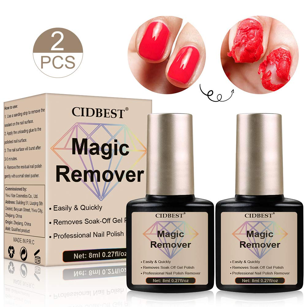 Magic Nail Polish Remover, Magic Gel Remover, Gel Polish Remover, Easily & Quickly Removes Soak-Off Gel Polish, Don't Hurt Your Nails - 15Ml by CIDBEST
