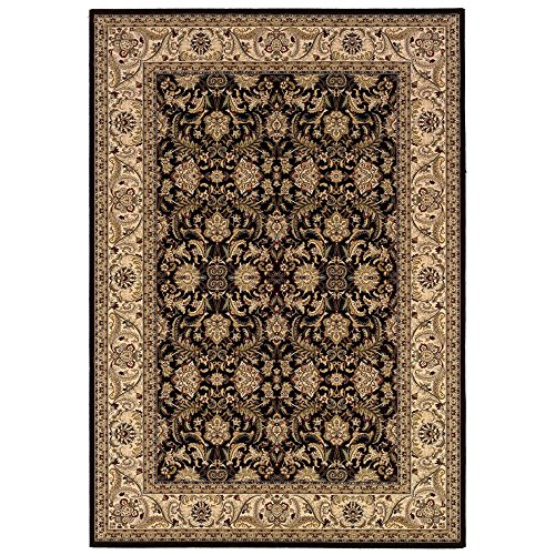 Couristan 6259/1000 Himalaya Isfahan/Ebony-Antique Cream 2-Feet by 3-Feet 7-Inch Rug