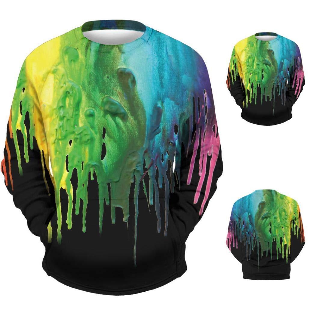Resplend Camiseta de Manga Larga sin Mangas con Estampado de Tinta de impresión en 3D para Hombre de Spple Top: Amazon.es: Ropa y accesorios