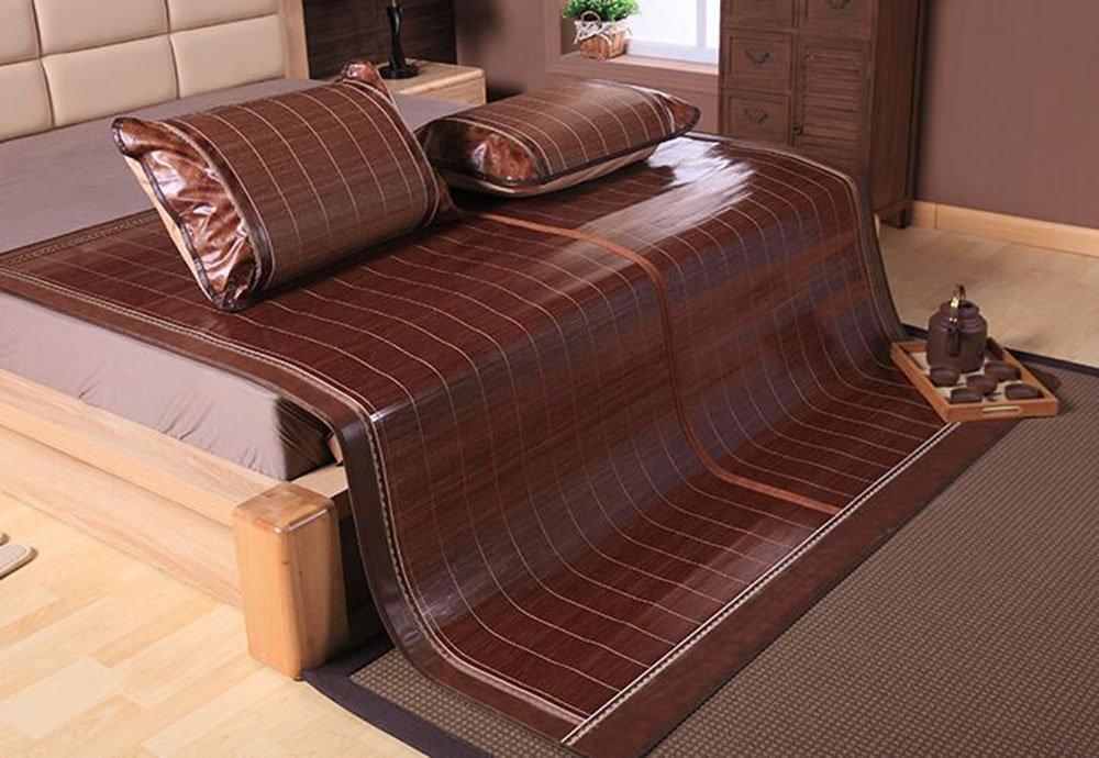 Sommerbettmatte Bambusmatten Matten Doppelmatten 1,5 m 1,8m Bett Wassermühle kohlensäurehaltige Spiegel hochwertig faltende Bambusmatte (Farbe : B, größe : 1.5m Bed)