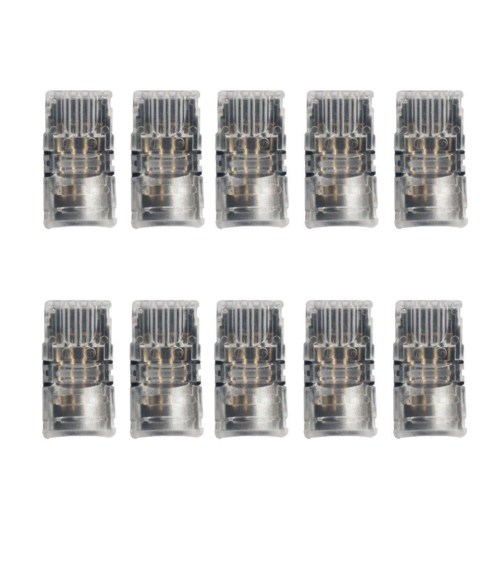 Alightings 4ピンストリップコネクターキット 10mm RGB 5050 LEDストリップライト用 屋外用シリコーンカバー付きPCBボード 10個セット ギャップなし ジャンパーケーブルコネクター10個セット COMINHKG094897 B01I8CDF58 11502 Diy Strip to Wire Diy Strip to Wire