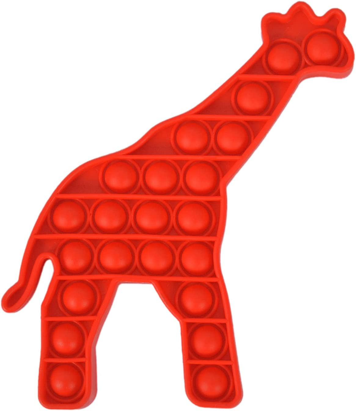 Stress Relief Silicone Toy Stress Anxiety Relief Toys for ADHD Autism Special Needs Fidget Popper Stress Reliever Toys Bubble Popper Toy brandl Red Giraffe Push Pop Fidget Toy