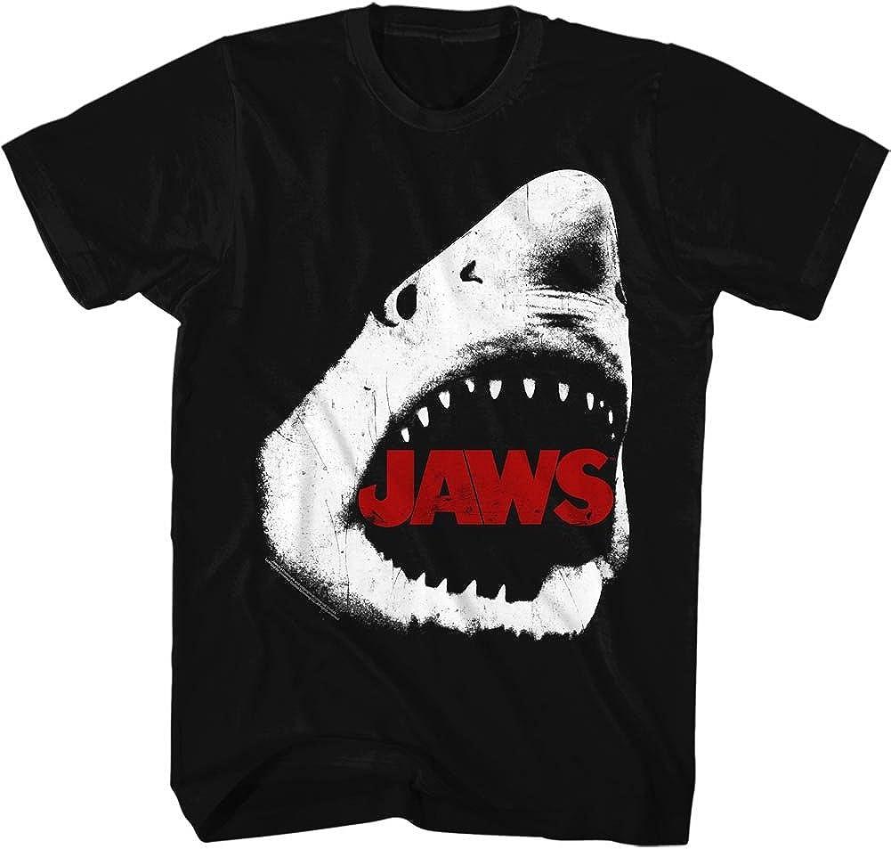 Jaws 1970's Shark Teeth Thriller Spielberg Movie Amity Island Adult T-Shirt