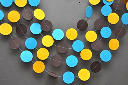 Amazon Blue Yellow And Brown Garland Birthday Decoration