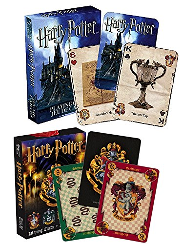 Aquarius Harry Potter Merchandise and Games - Playing Symbols Cards and Crest Playing Cards