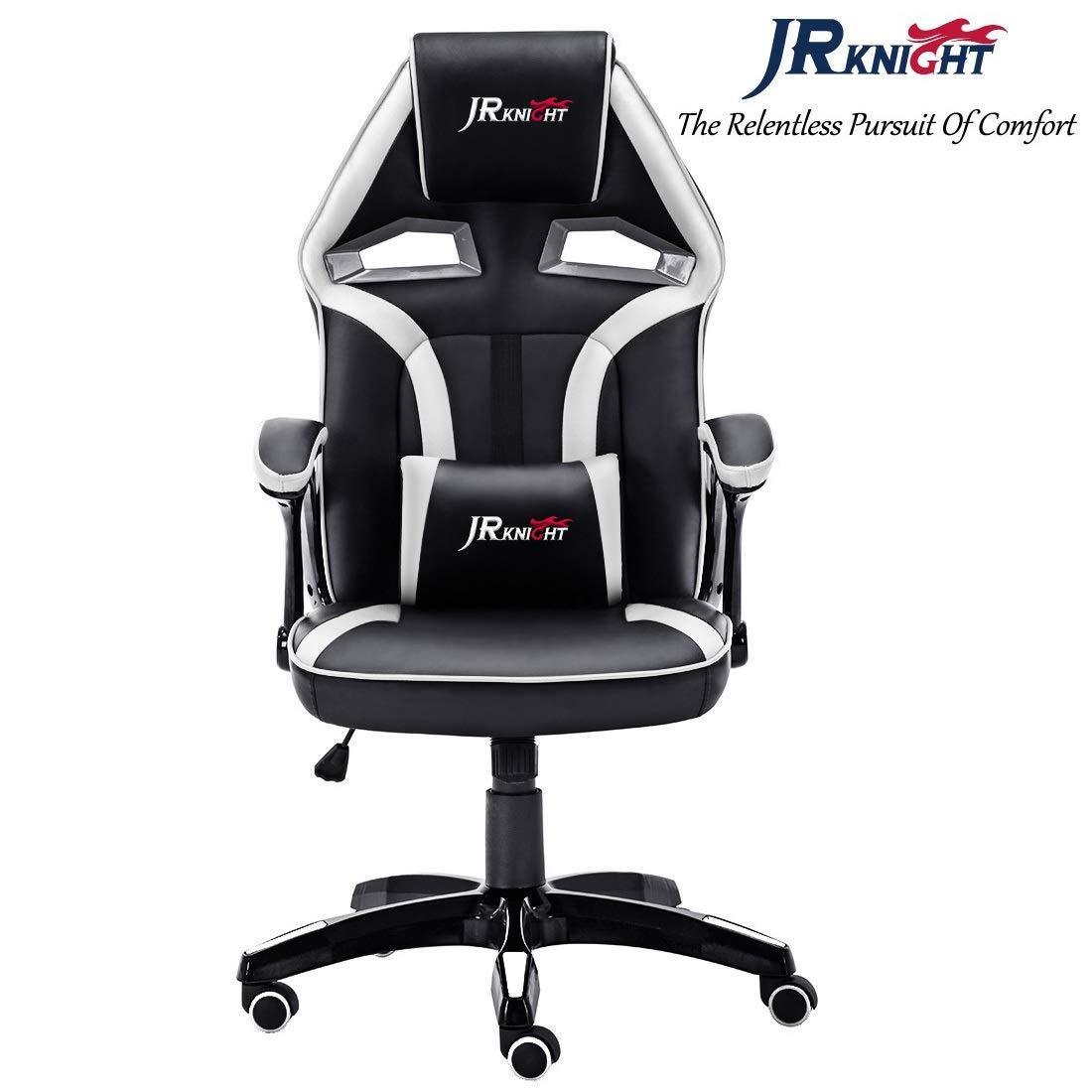 JR Knight Racing Chair, Renovation Alien Design Home Office Computer Gaming Exclusive Swivel Leather Chair (Black&Blue) [Energy Class A+++] JR Knight Furniture
