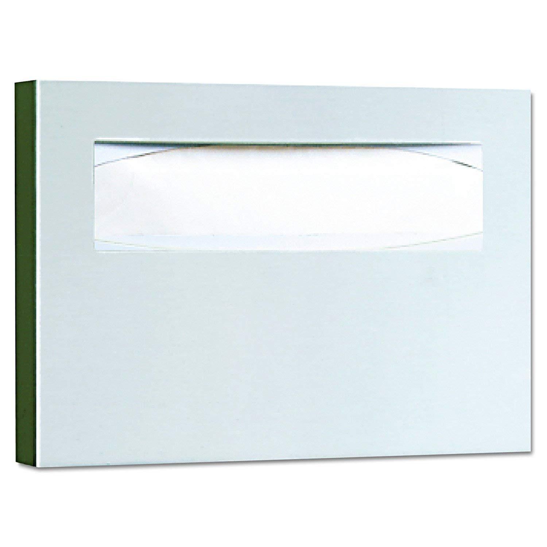 Satin Finish Bobrick 221 Stainless Steel Toilet Seat Cover Dispenser 15 3//4 x 2 x 11