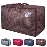 DOKEHOM DKA1011BN2 100L Large Storage Bag (4 Colors), Fabric Clothes Bag, Thick Ultra Size Under Bed Storage, Moisture proof (Brown)