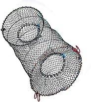 Fishing Net, 3 Sizes Foldable Lobster Crayfish Crab Crawfish Shrimp Fish Trap Cage Net for Fishing