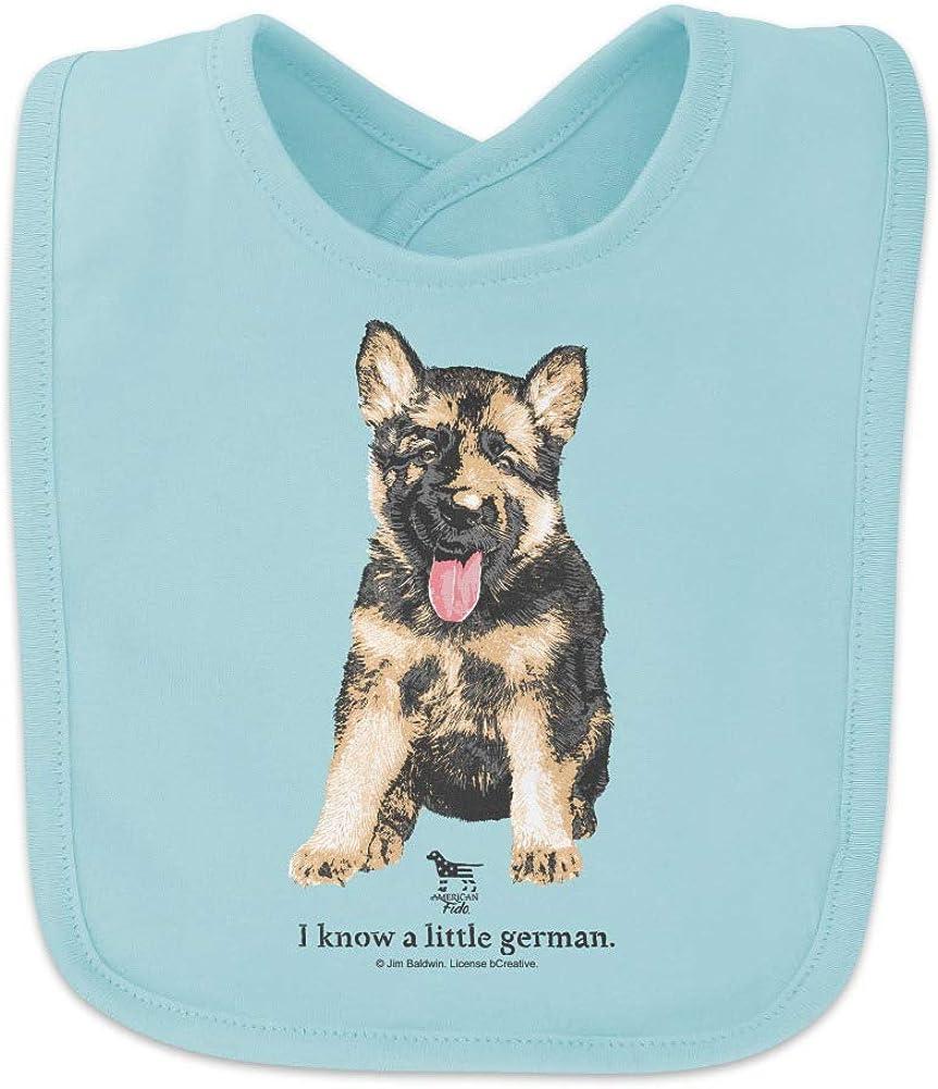 Amazon Com I Know A Little German Shepherd Puppy Dog Baby Bib Clothing